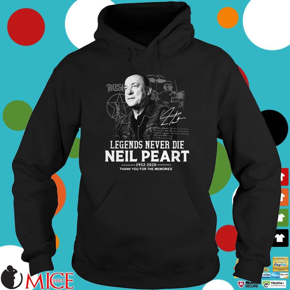 Neil Peart Legends Never Die Shirt