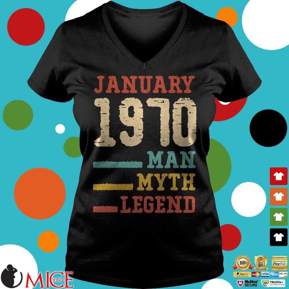 Vintage 50th birthday 1970 January Man Myth Legend Shirt