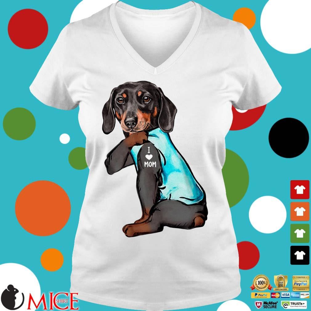 Dachshund I love mom Shirt