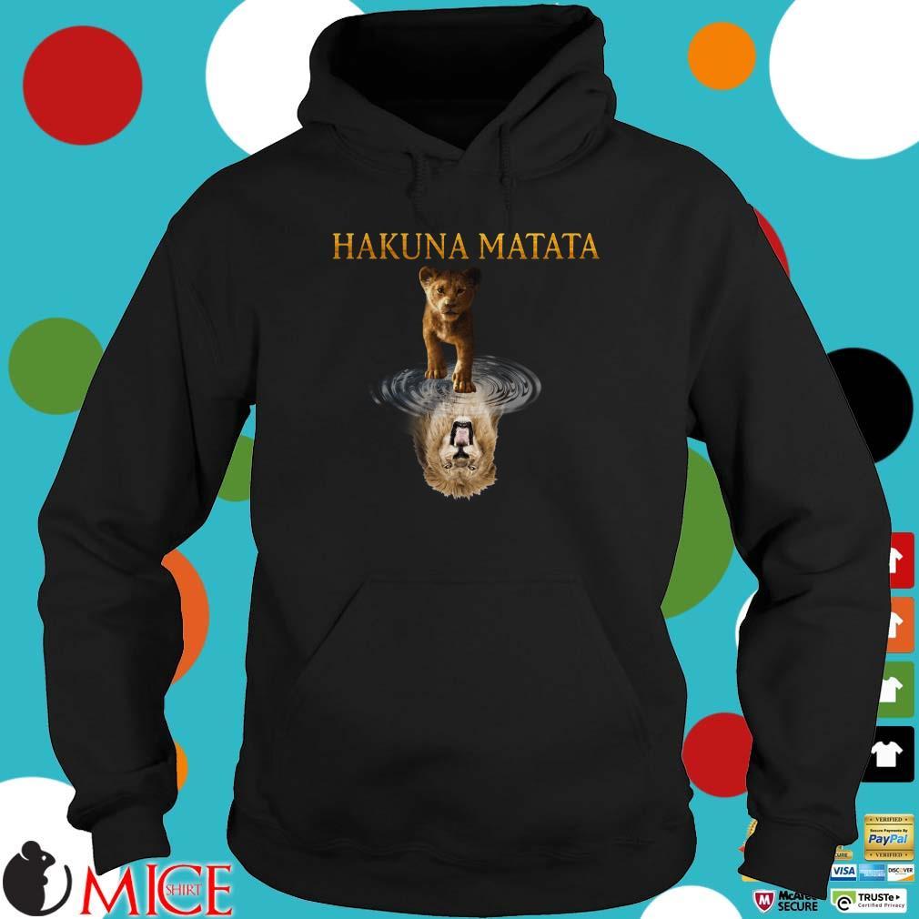 Hakuna Matata Simba reflection water mirror Mufasa Shirt