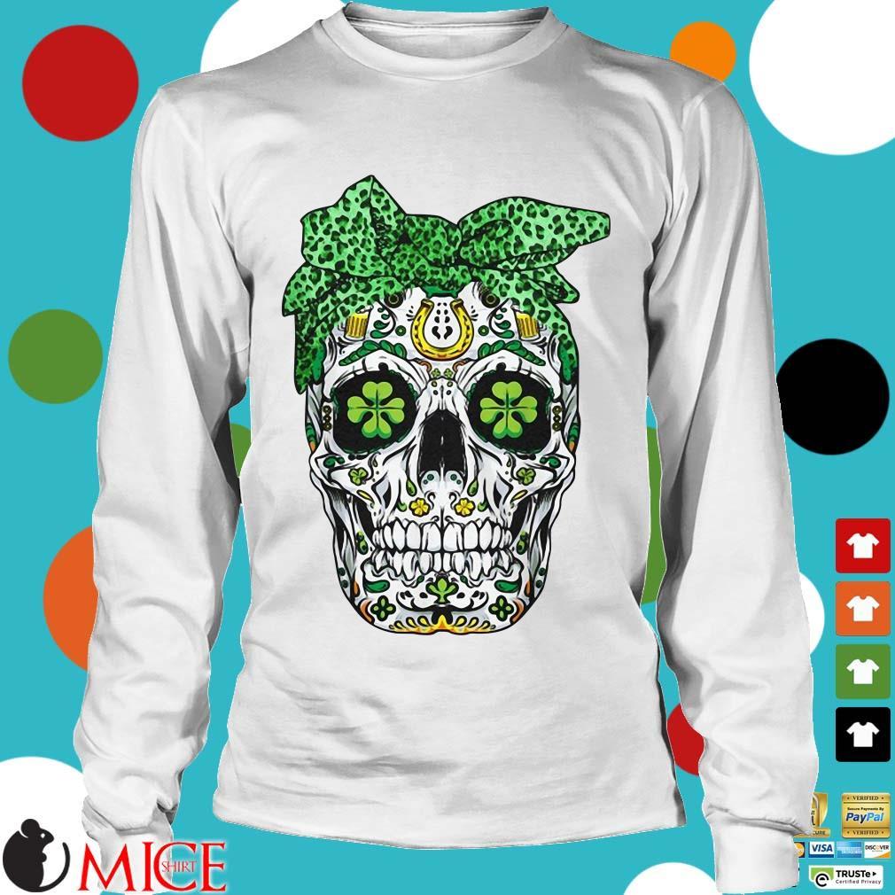 Leopard Sugar Skull St,Patricks Day Shirt