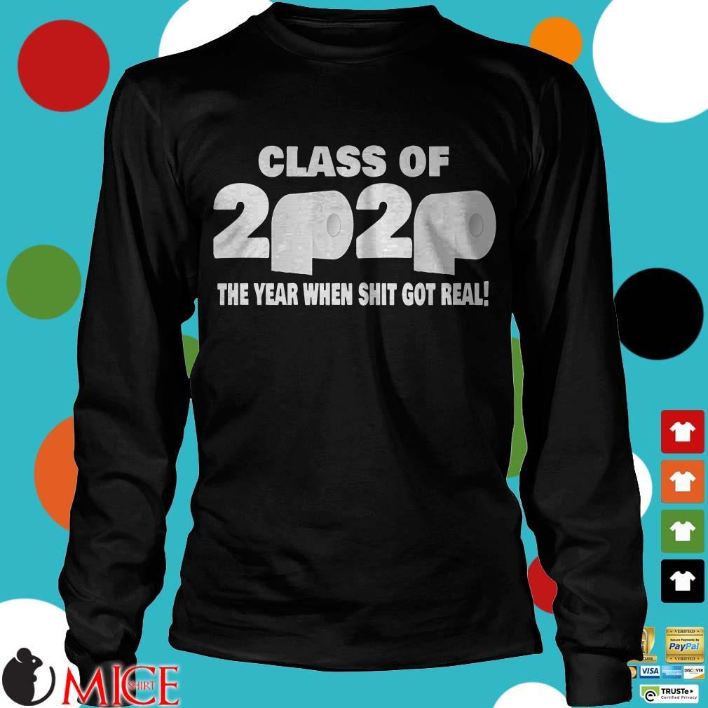 Class Of 2020 Graduation Senior Funny Quarantine Tee Shirt