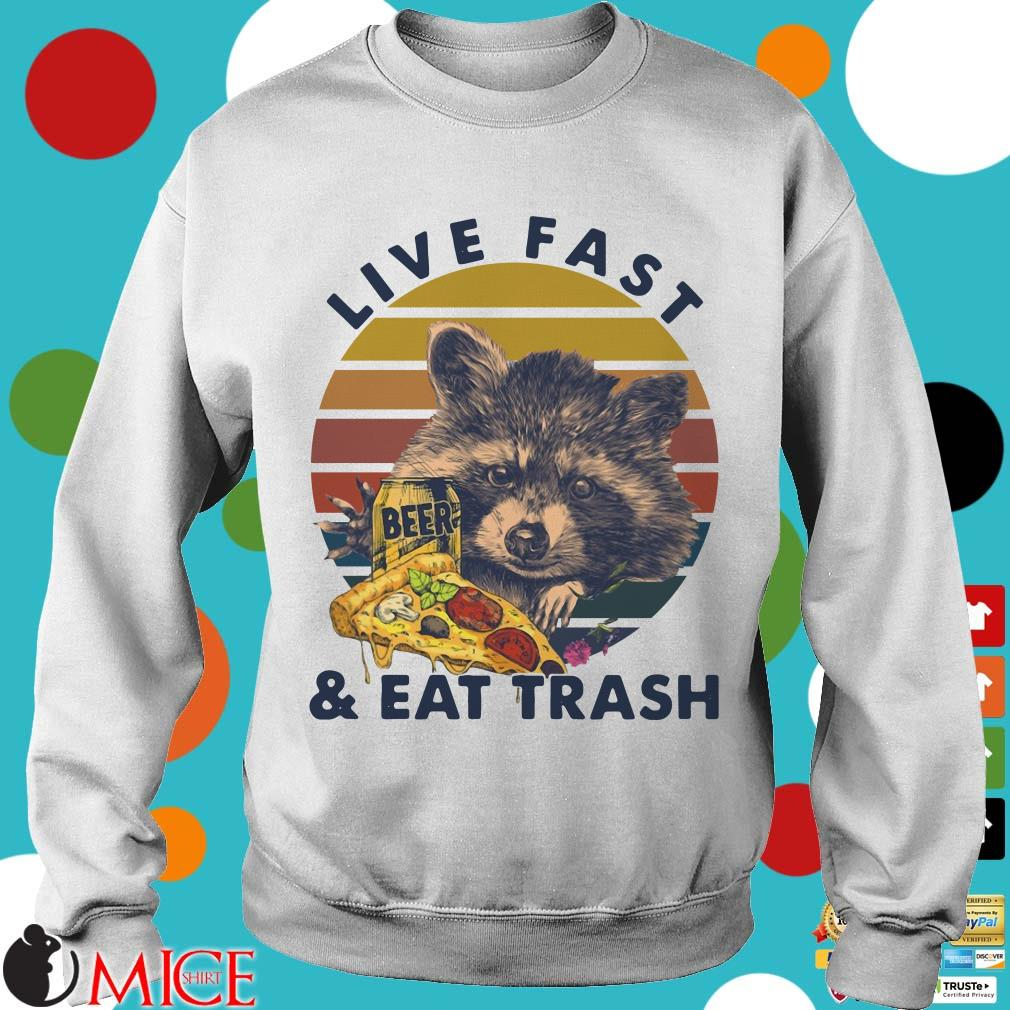 Racoon Drink Beer Live Fast And Eat Trash Vintage Shirt