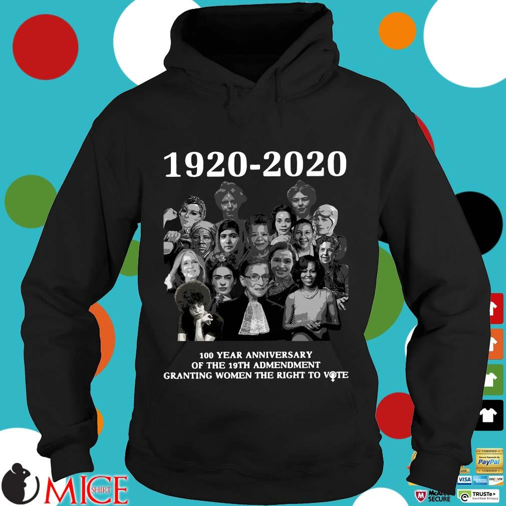 1920 2020 100 Years Anniversary Of The 19th Amendment Granting Women The Right To Vote Shirt d Hoodie