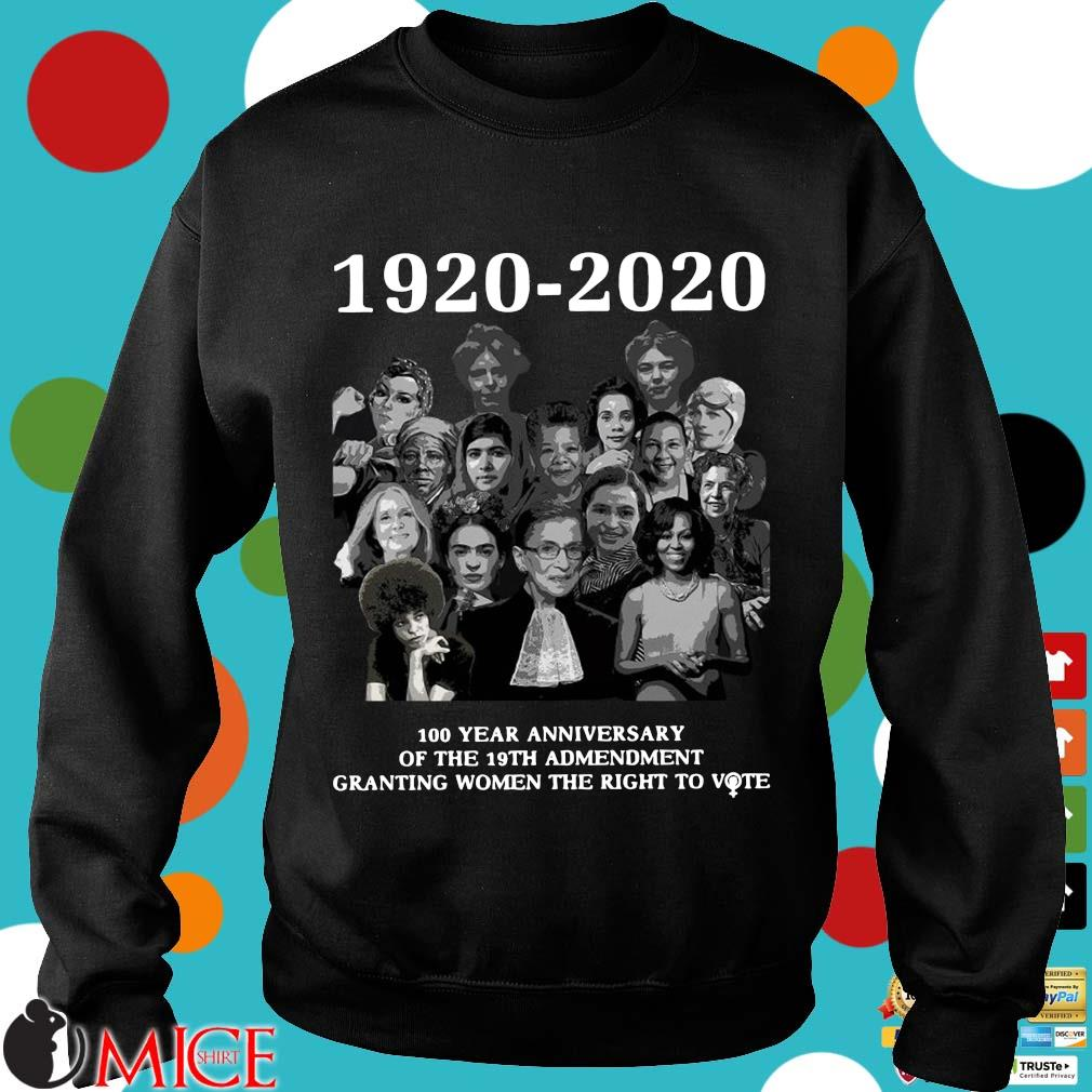 1920 2020 100 Years Anniversary Of The 19th Amendment Granting Women The Right To Vote Shirt d Sweater