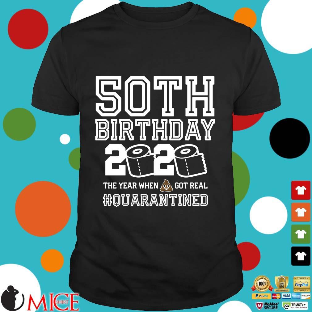 50th Birthday Shirt, Quarantine Shirt, The One Where I Was Quarantined 2020 Tee Shirts