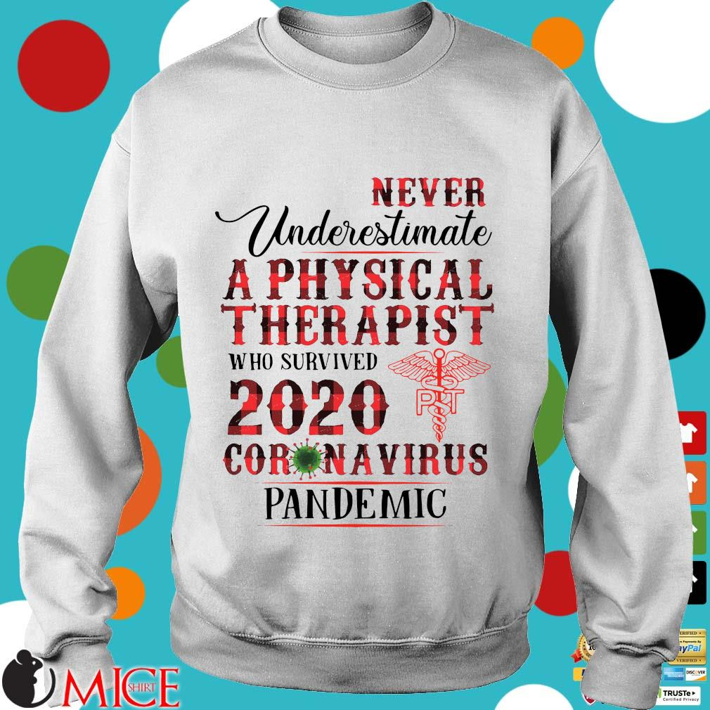 Never Underestimate A Physical Therapist Who Survived 2020 Coronavirus Pandemic Shirt t Sweater