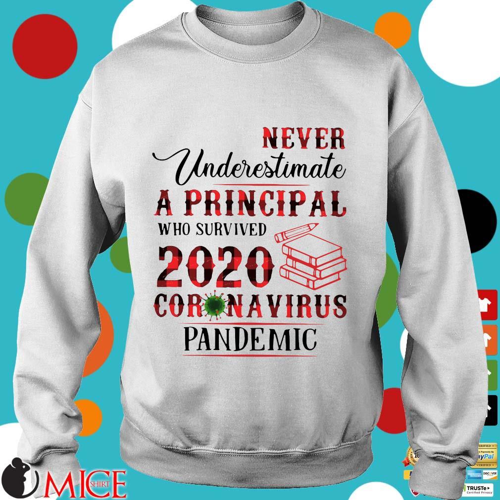 Never Underestimate A Principal Who Survived 2020 Coronavirus Pandemic Shirt t Sweater