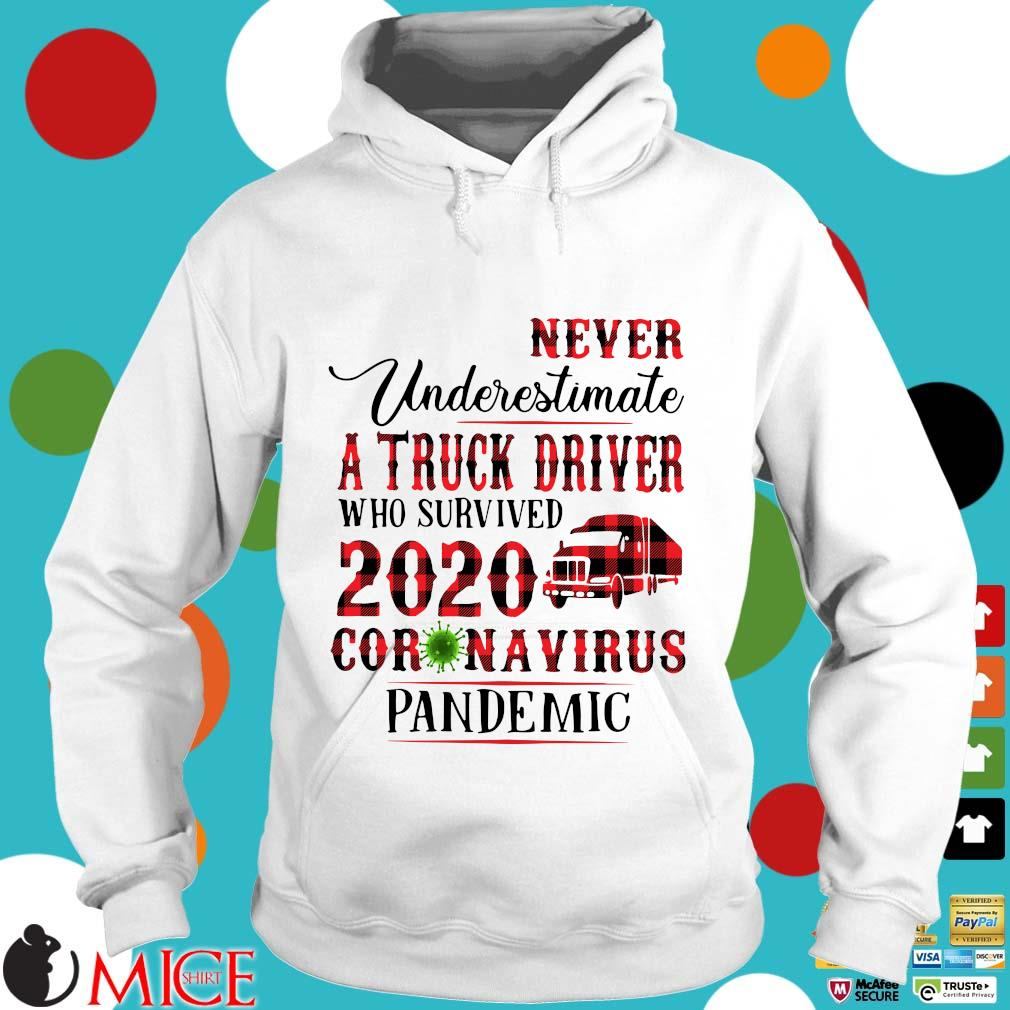 Never Underestimate A Truck Driver Who Survived 2020 Coronavirus Pandemic Shirt t Hoodie