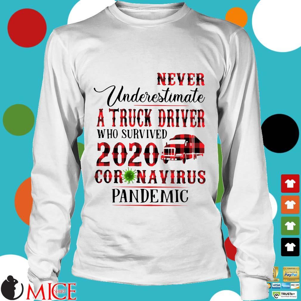 Never Underestimate A Truck Driver Who Survived 2020 Coronavirus Pandemic Shirt t Longsleeve