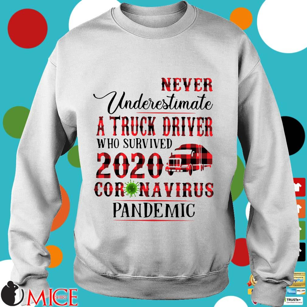 Never Underestimate A Truck Driver Who Survived 2020 Coronavirus Pandemic Shirt t Sweater
