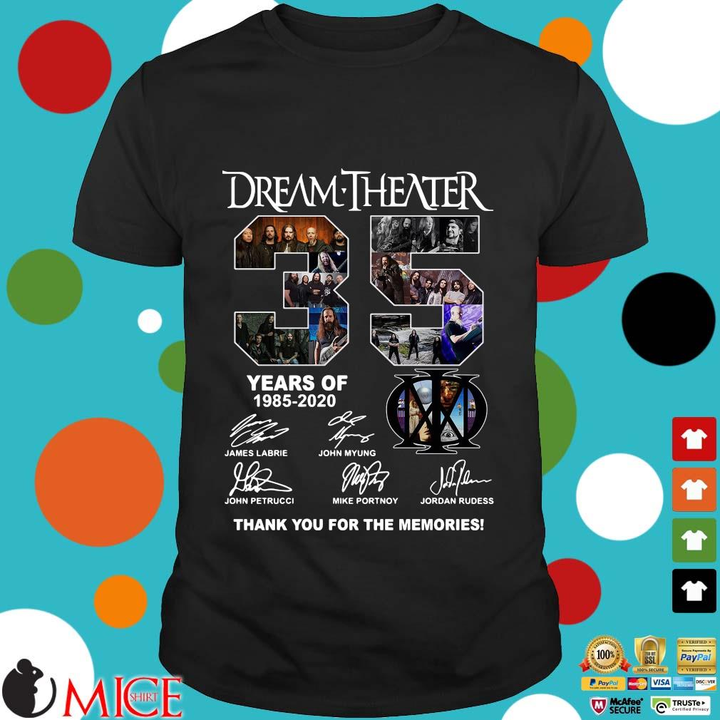 Dream Theater 35 Years Of 1985 2020 Thank You For The Memories Signatures Shirt