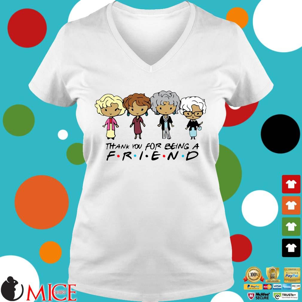 Golden Girls Thank You For Being A Friend Shirt t Ladies V-Neck