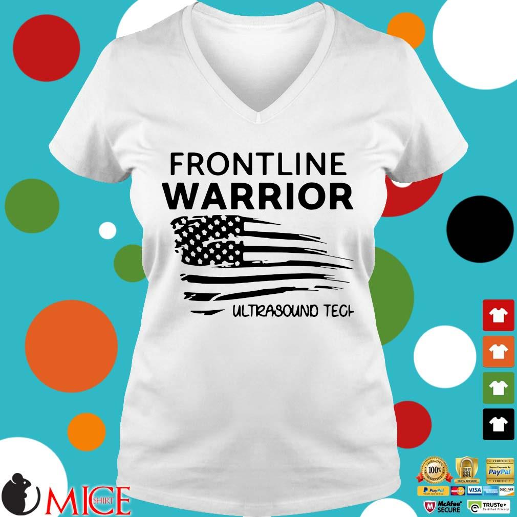 Independence Day Frontline Warrior Ultrasound Tech Shirt t Ladies V-Neck