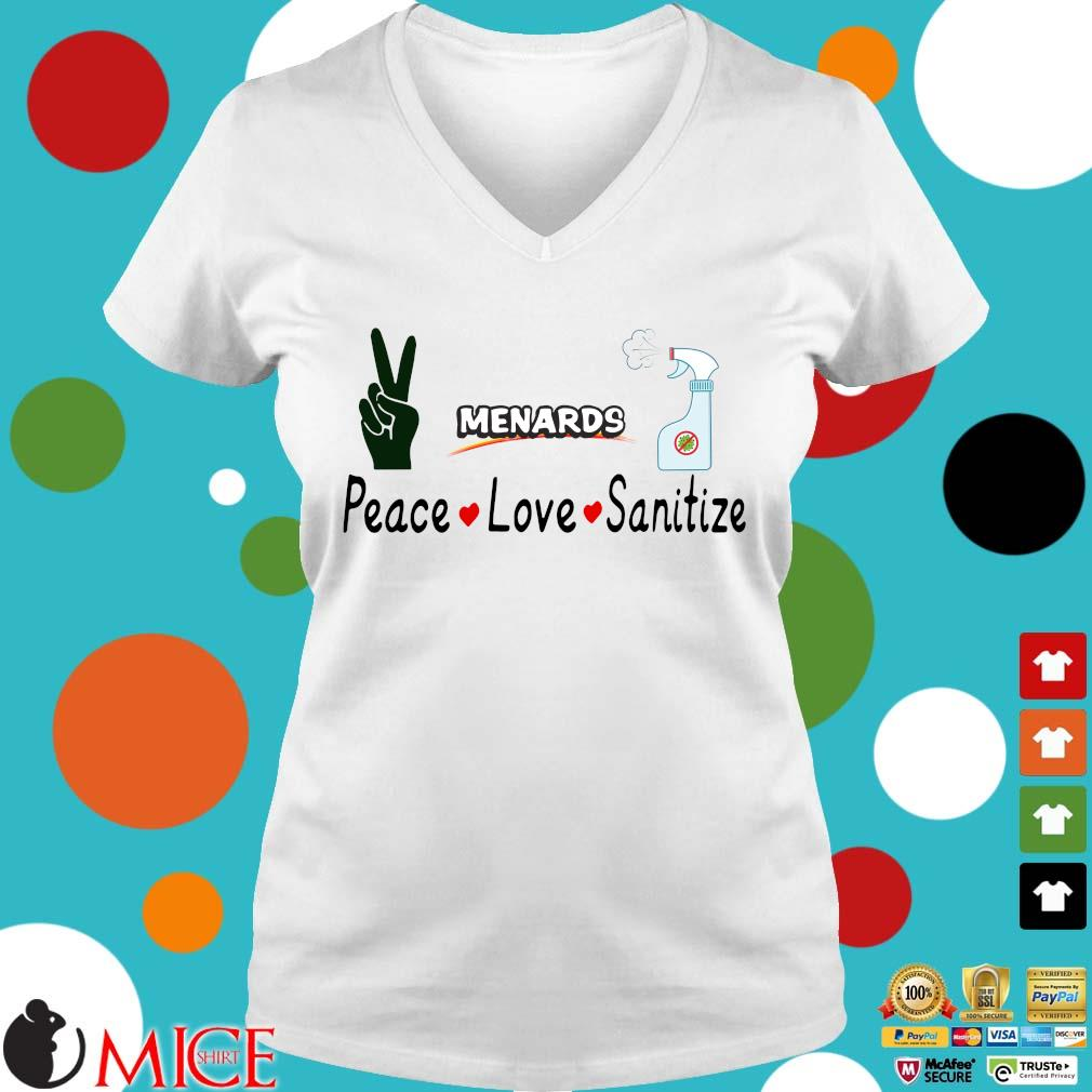 Menards Peace Love Sanitize Shirt t Ladies V-Neck