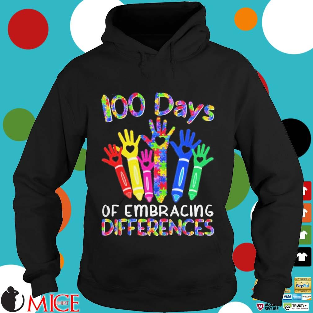 100 Days Of Embracing Differences IEP 100th Day Of School Shirt d Hoodie