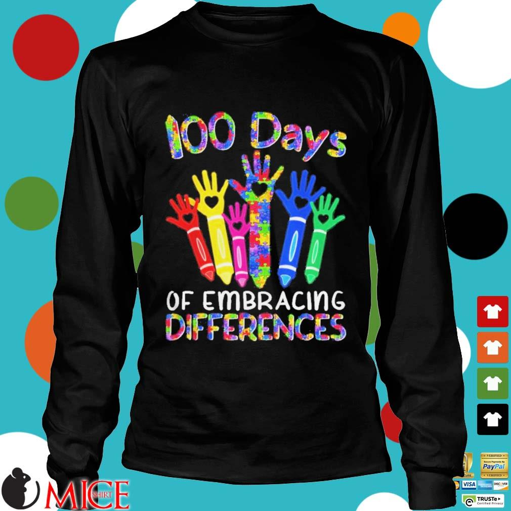 100 Days Of Embracing Differences IEP 100th Day Of School Shirt d Longsleeve