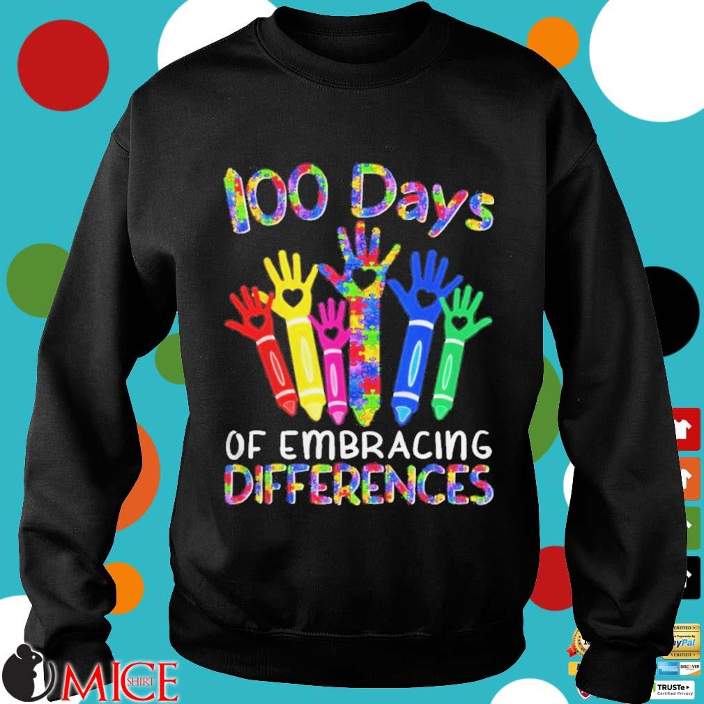 100 Days Of Embracing Differences IEP 100th Day Of School Shirt d Sweater
