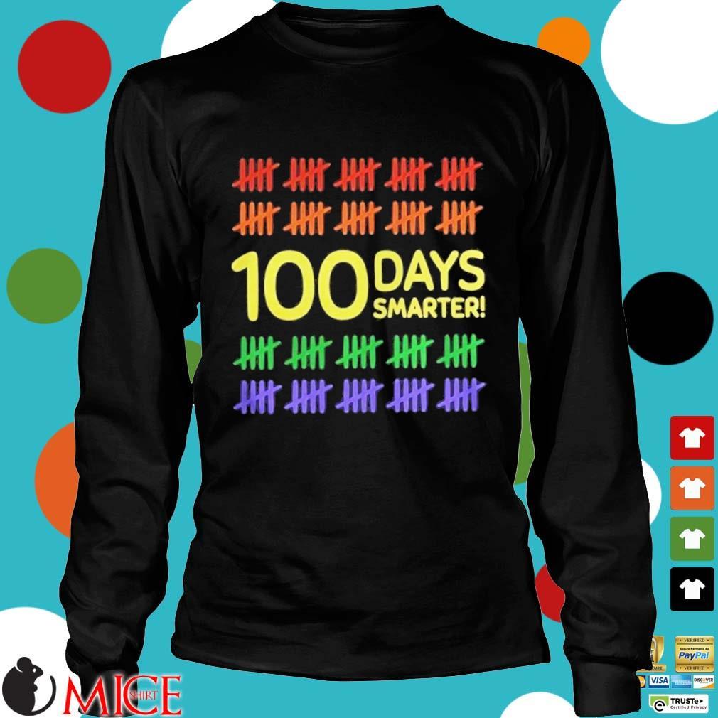 100 Days Smarter LGBT Shirt d Longsleeve