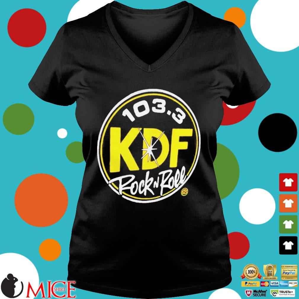 103 3 KDP Rock and Roll s d Ladies V-Neck