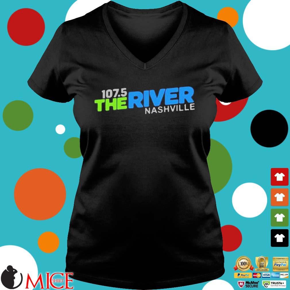 107 5 The River Nashville Shirt d Ladies V-Neck