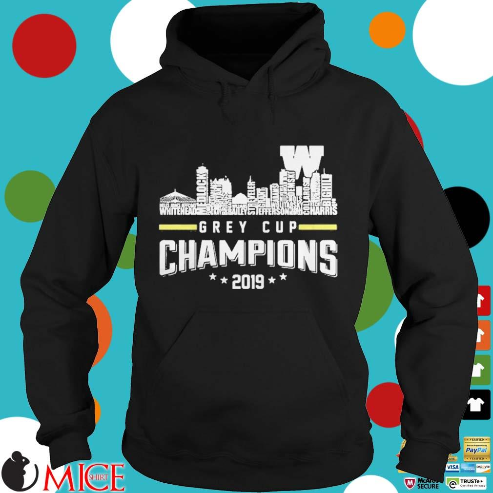107th Grey Cup Blue Bombers Building Players Champions 2019 Shirt d Hoodie