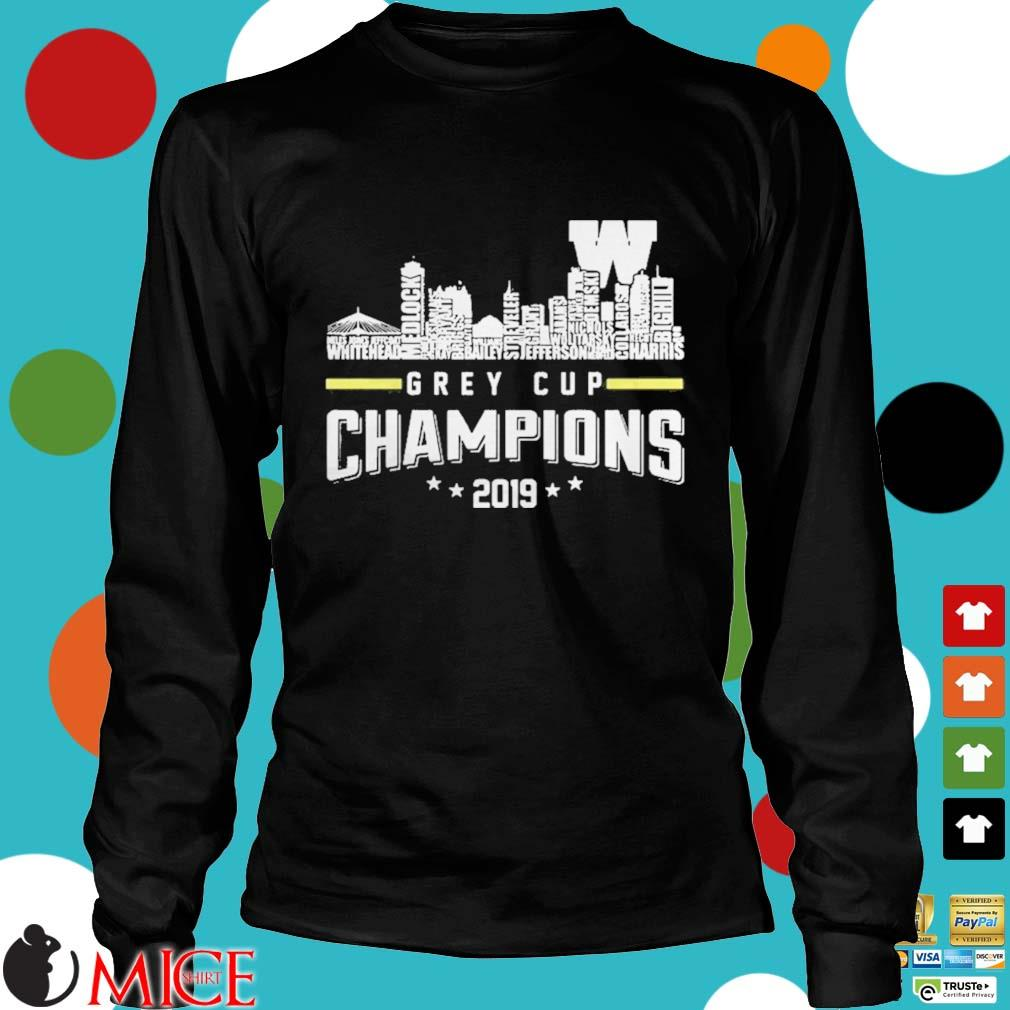 107th Grey Cup Blue Bombers Building Players Champions 2019 Shirt d Longsleeve