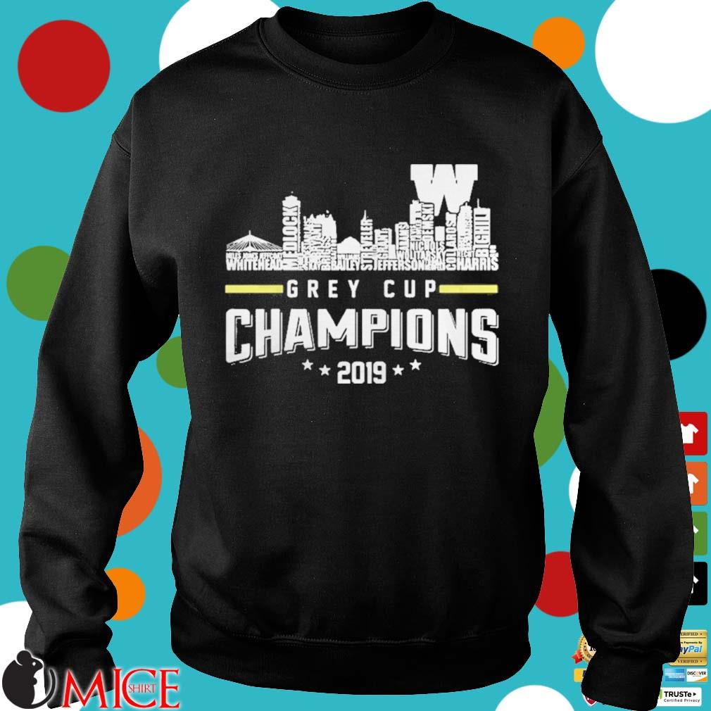 107th Grey Cup Blue Bombers Building Players Champions 2019 Shirt d Sweater
