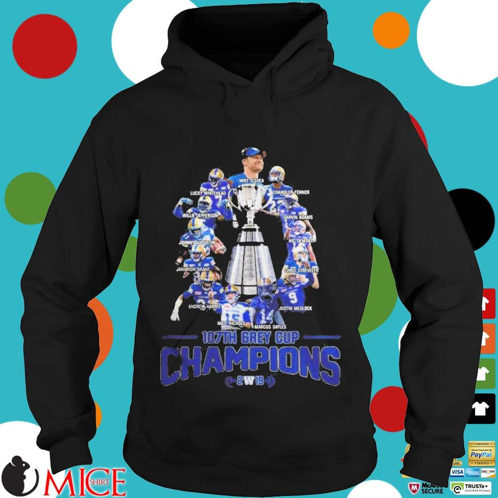 107th Grey Cup Blue Bombers Players Champions 2019 Shirt d Hoodie