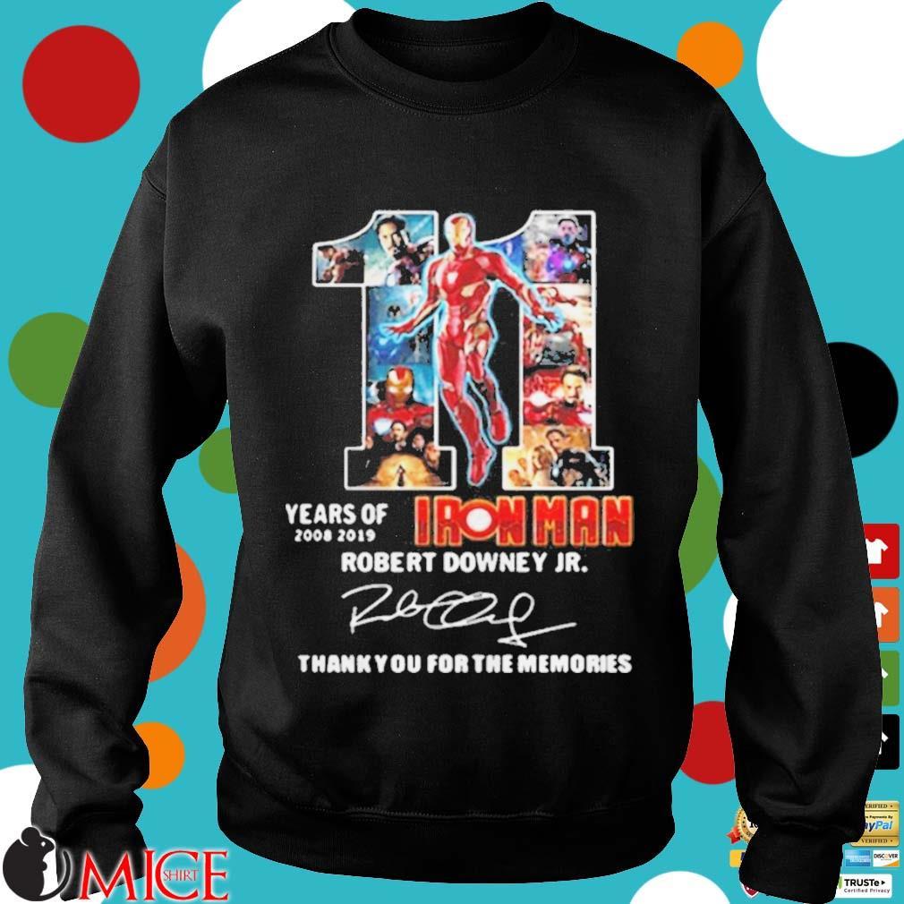 11 years of Iron Man 2008 2019 Robert Downey Jr signature s d Sweater