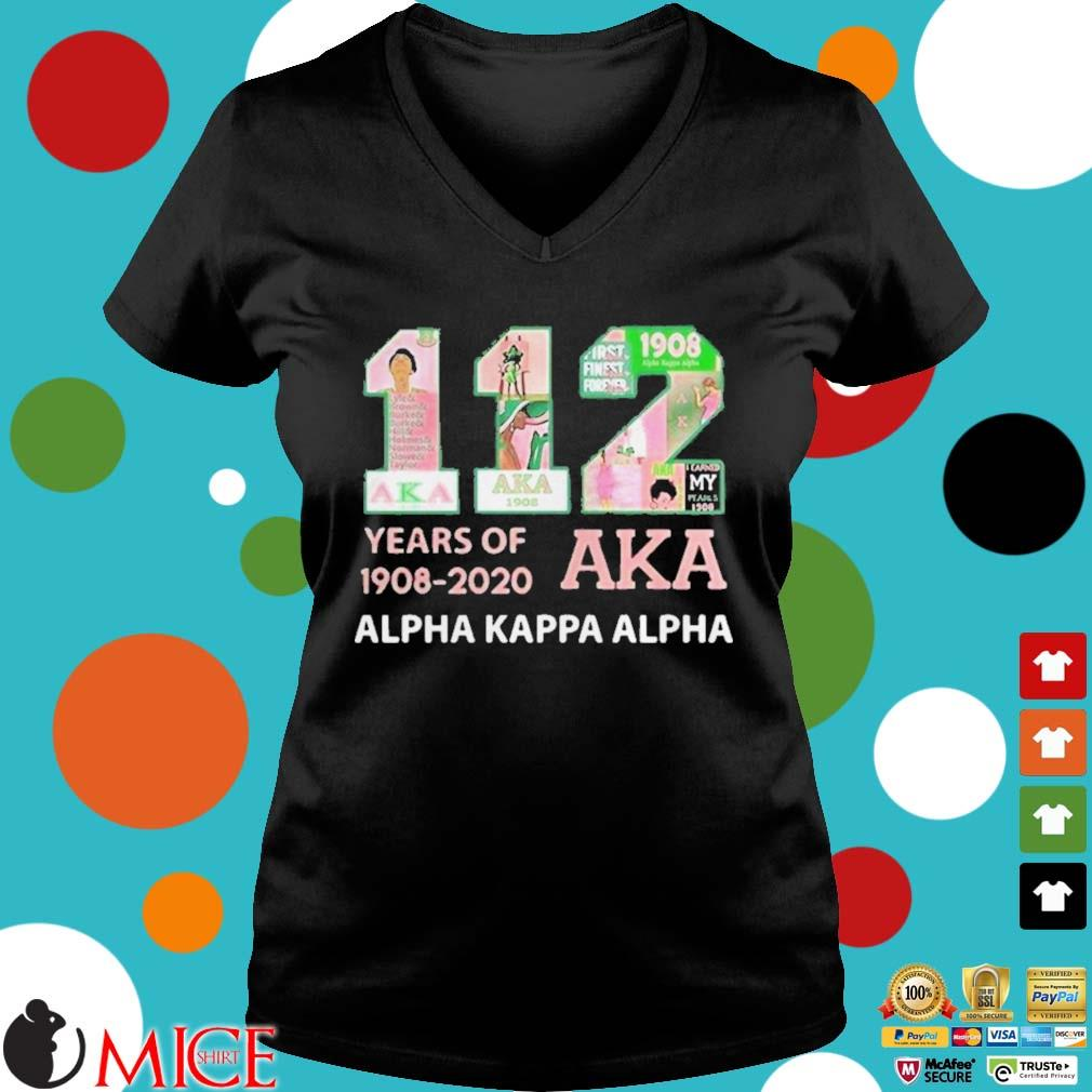 112 years of 19082020 aka alpha kappa alpha s d Ladies V-Neck