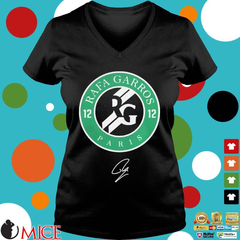 12 Rafa Garros Paris Shirt d Ladies V-Neck