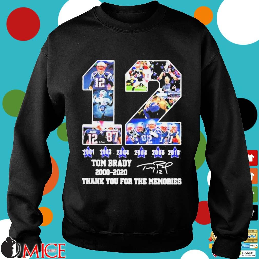 12 Tom Brady thanks for the memories signatures 20002020 s d Sweater