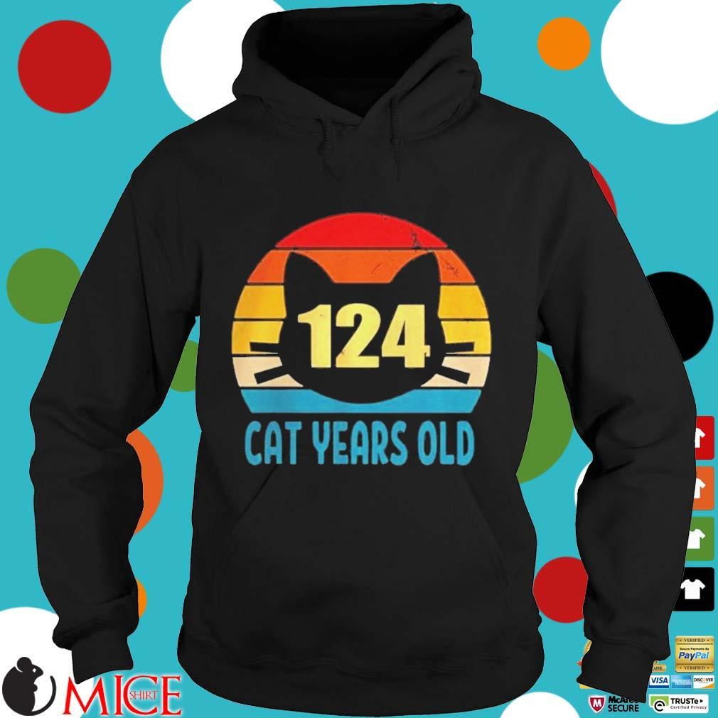 124 cat years old vintage s d Hoodie