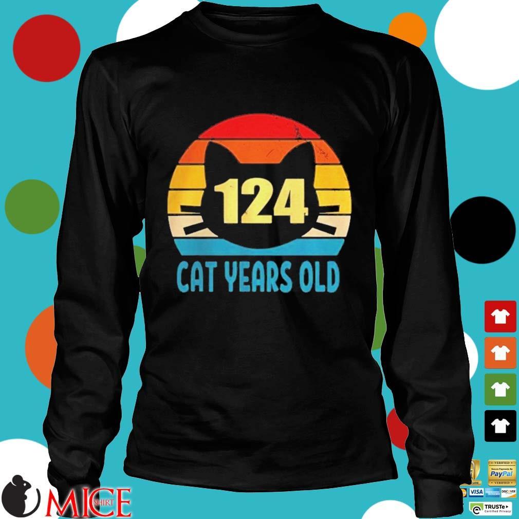 124 cat years old vintage s d Longsleeve