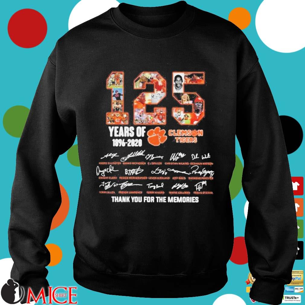 125 Years of Clemson Tigers 1896 2020 thank you for the memories s d Sweater