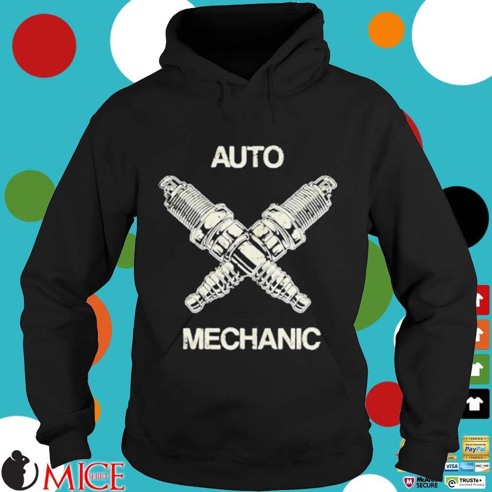 Auto Mechanic Two Screws White s d Hoodie