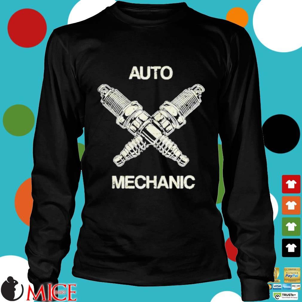 Auto Mechanic Two Screws White s d Longsleeve