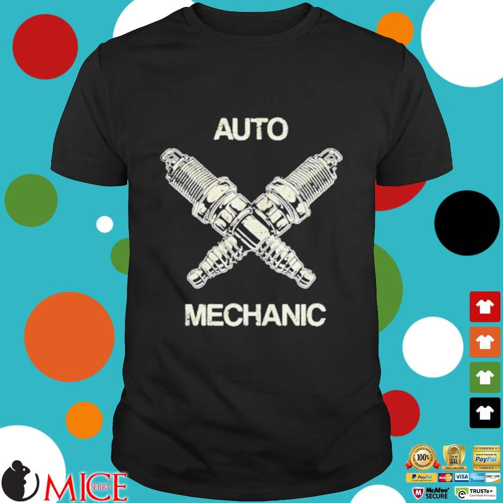 Auto Mechanic Two Screws White shirt