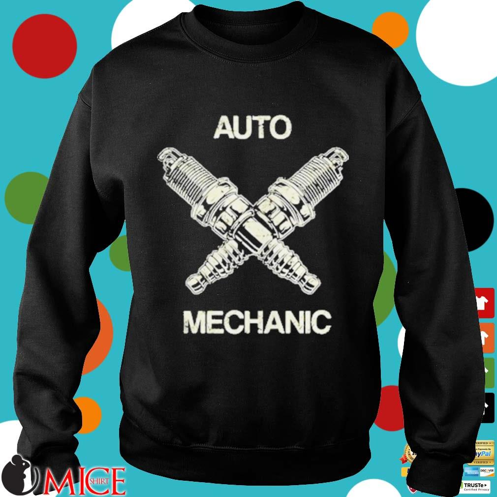 Auto Mechanic Two Screws White s d Sweater