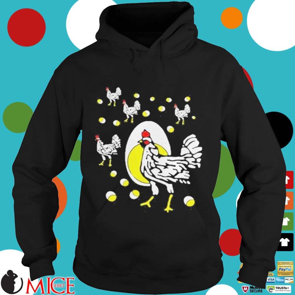 Black hens white eggs s d Hoodie
