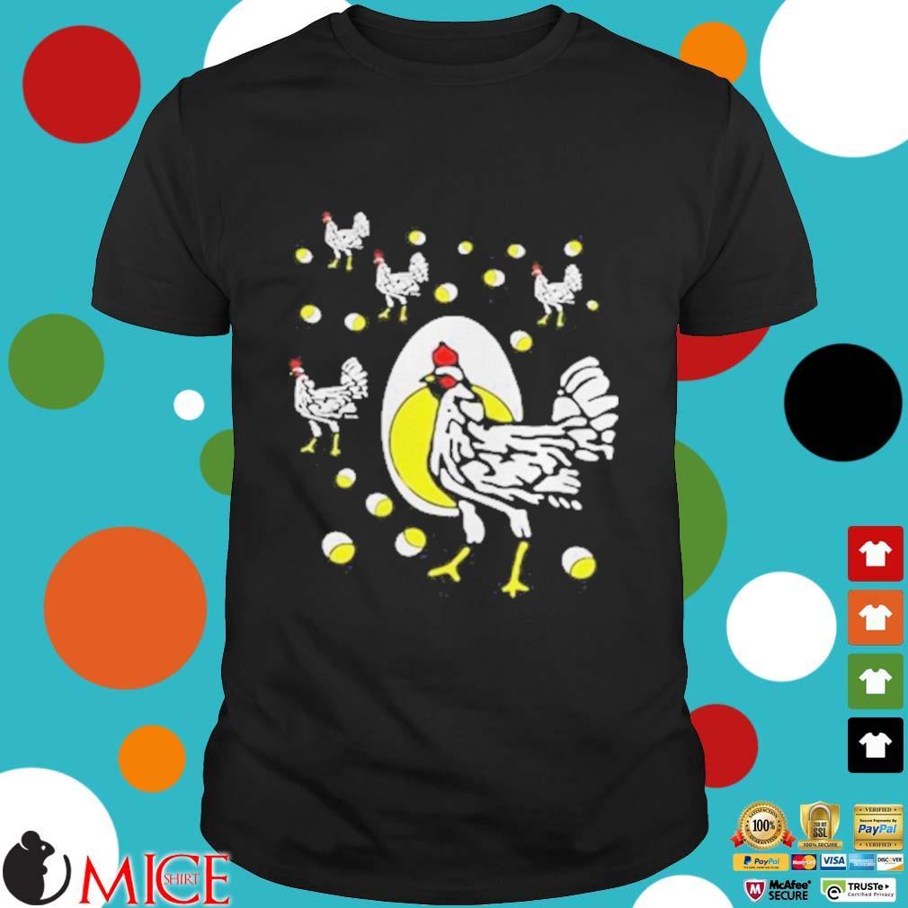 Black hens white eggs shirt