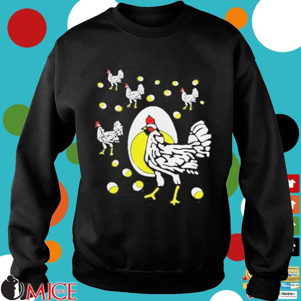 Black hens white eggs s d Sweater