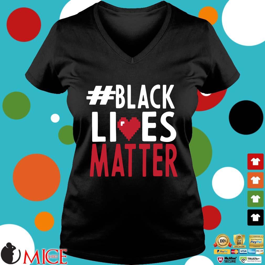 #black Lives Matter Love Shirt d Ladies V-Neck