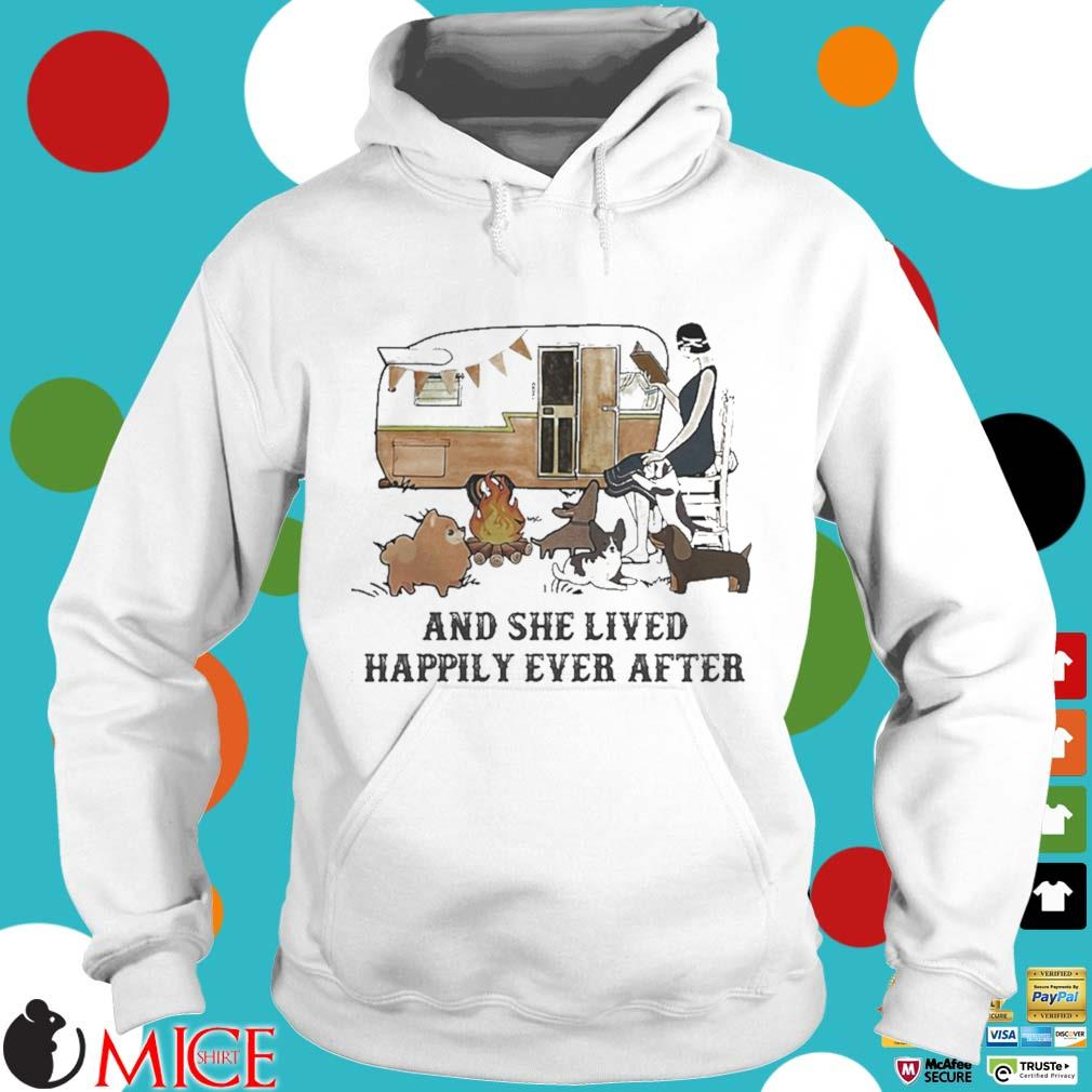 Camping fire and she lived happily ever after s t Hoodie