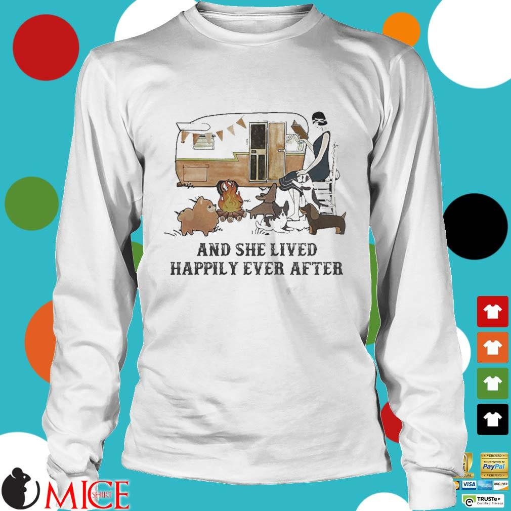 Camping fire and she lived happily ever after s t Longsleeve
