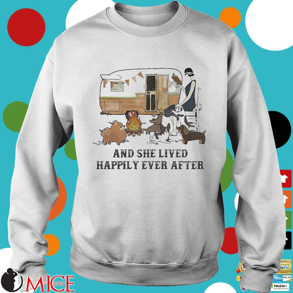 Camping fire and she lived happily ever after s t Sweater