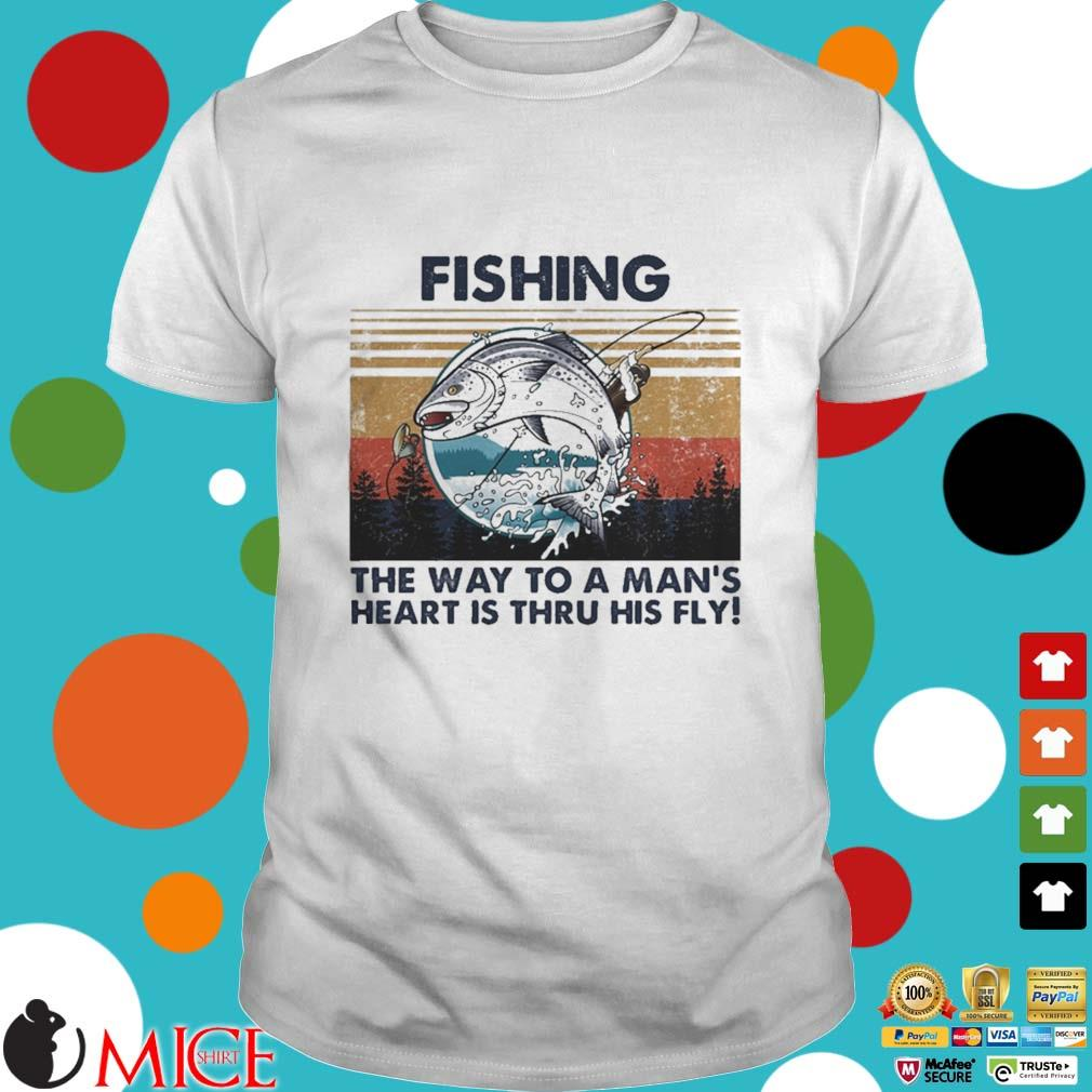 Fishing the way to a mans heart is thru his fly vintage shirt