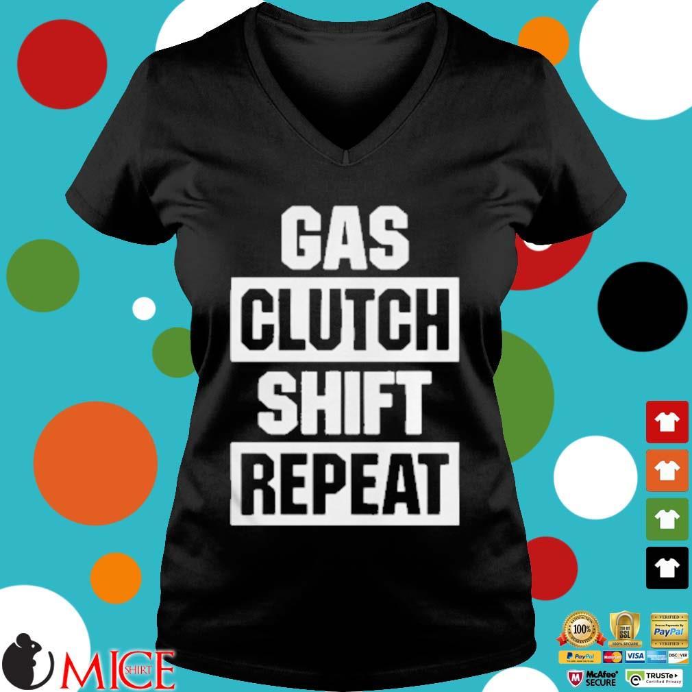 Gas Clutch Shift Repeat Shirt d Ladies V-Neck