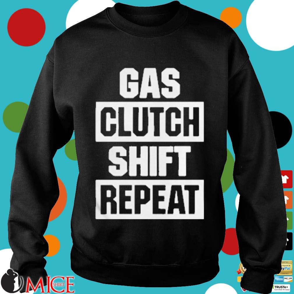 Gas Clutch Shift Repeat Shirt d Sweater